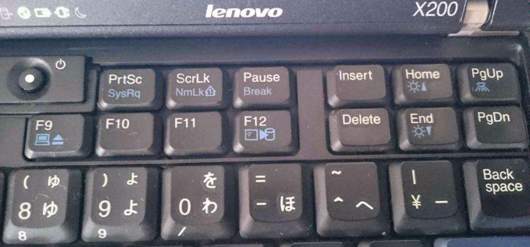 Chromium OS in ThinkPad X200 スクリーンショットの撮り方