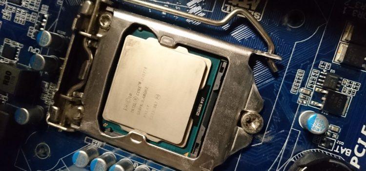 自作機スペックアップ、Core-i7 3770を中古で入手